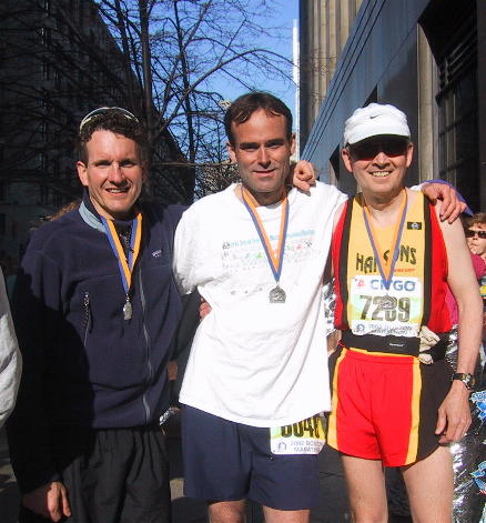 Me, Brett, and Greg at the finish