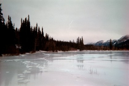 Where I broke through the ice outside of Rohn, Alaska